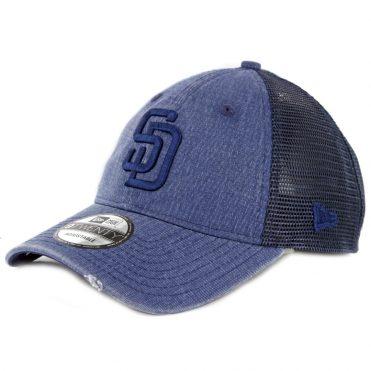 New Era 9Twenty San Diego Padres Tonal Washed Strapback Hat Washed Navy