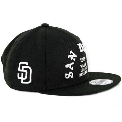New Era 9Fifty San Diego Padres Team Delux Snapback Hat Black