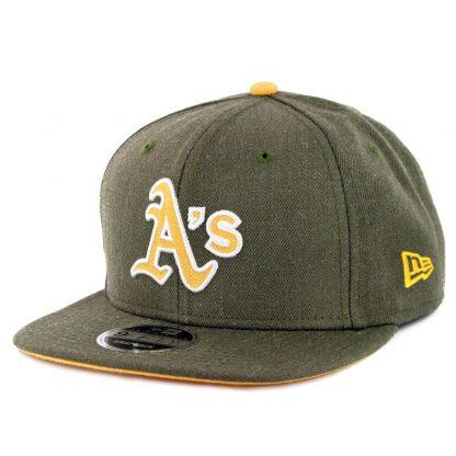 11818f75593 New Era 9Fifty Oakland Athletics Heather Hype Snapback Hat Heather Olive ...