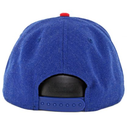 sports shoes e078a a6e4d ... New Era 9Fifty Chicago Cubs Heather Hype Snapback Hat Heather Royal Blue