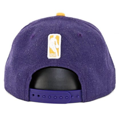 New Era 9Fifty Los Angeles Lakers Heather Hype Snapback Hat Heather Purple