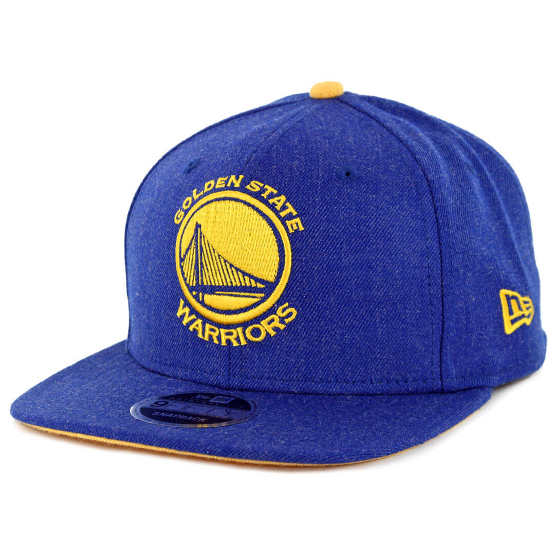 06a3f74a317d98 New Era 9Fifty Golden State Warriors Heather Hype Snapback Hat Heather  Royal Blue