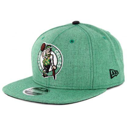 4507c62789ec62 New Era 9Fifty Boston Celtics Heather Hype Snapback Hat Heather Kelly Green  ...