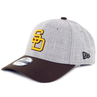 New Era 9Forty San Diego Padres The League Cooperstown 1980-1984 Strapback Hat Heather Grey Brown