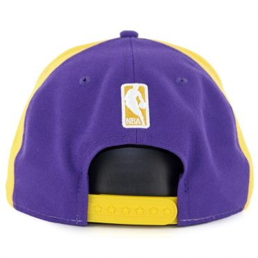 New Era 9Fifty Los Angeles Lakers Retro Wheel Snapback Hat Yellow White Purple