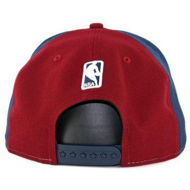 b01d6370815 ... New Era 9Fifty Cleveland Cavaliers Team Retro Wheel Snapback Hat Navy  White Burgundy