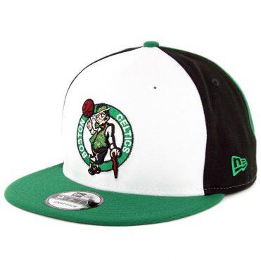 07ddcd41863 New Era 9Fifty Boston Celtics Team Retro Wheel Snapback Hat Black White  Kelly Green ...