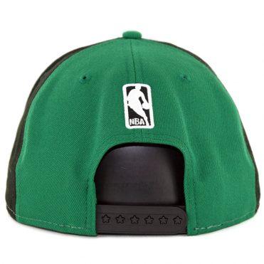 a4f730532e3 ... New Era 9Fifty Boston Celtics Team Retro Wheel Snapback Hat Black White  Kelly Green