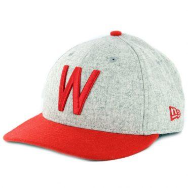 New Era 9Fifty Washington Senators Melton Throwback Snapback Hat Heather Grey Red