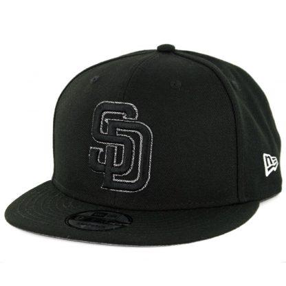 New Era 9Fifty San Diego Padres Squad Twist Snapback Hat Black White