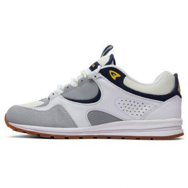 DC Shoes Kalis Lite Shoe White Grey Yellow
