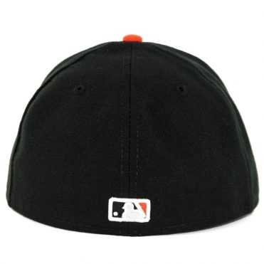 New Era 59Fifty Baltimore Orioles Alternate 1 Authentic On Field Fitted Hat Black Orange