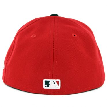New Era 59Fifty Cincinnati Reds Road Authentic On Field Fitted Hat Red Black