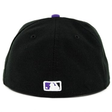 New Era 59Fifty Colorado Rockies Alternate 1 Authentic On Field Fitted Hat Black Purple