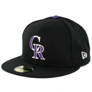 New Era 59Fifty Colorado Rockies Game Authentic On Field Fitted Hat Black