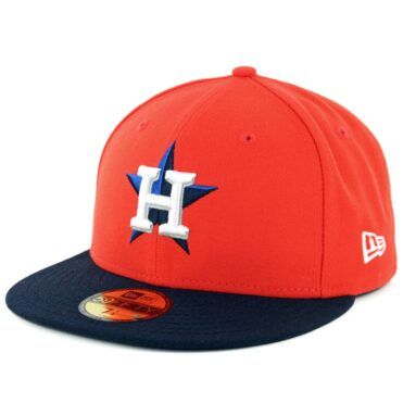 New Era 59Fifty Houston Astros Alternate 1 Authentic On Field Fitted Hat Orange