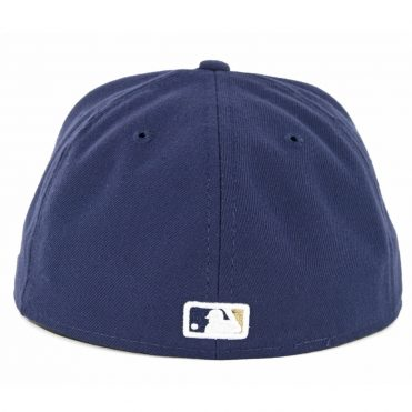 New Era 59Fifty Milwaukee Brewers Game Authentic On Field Fitted Hat Navy