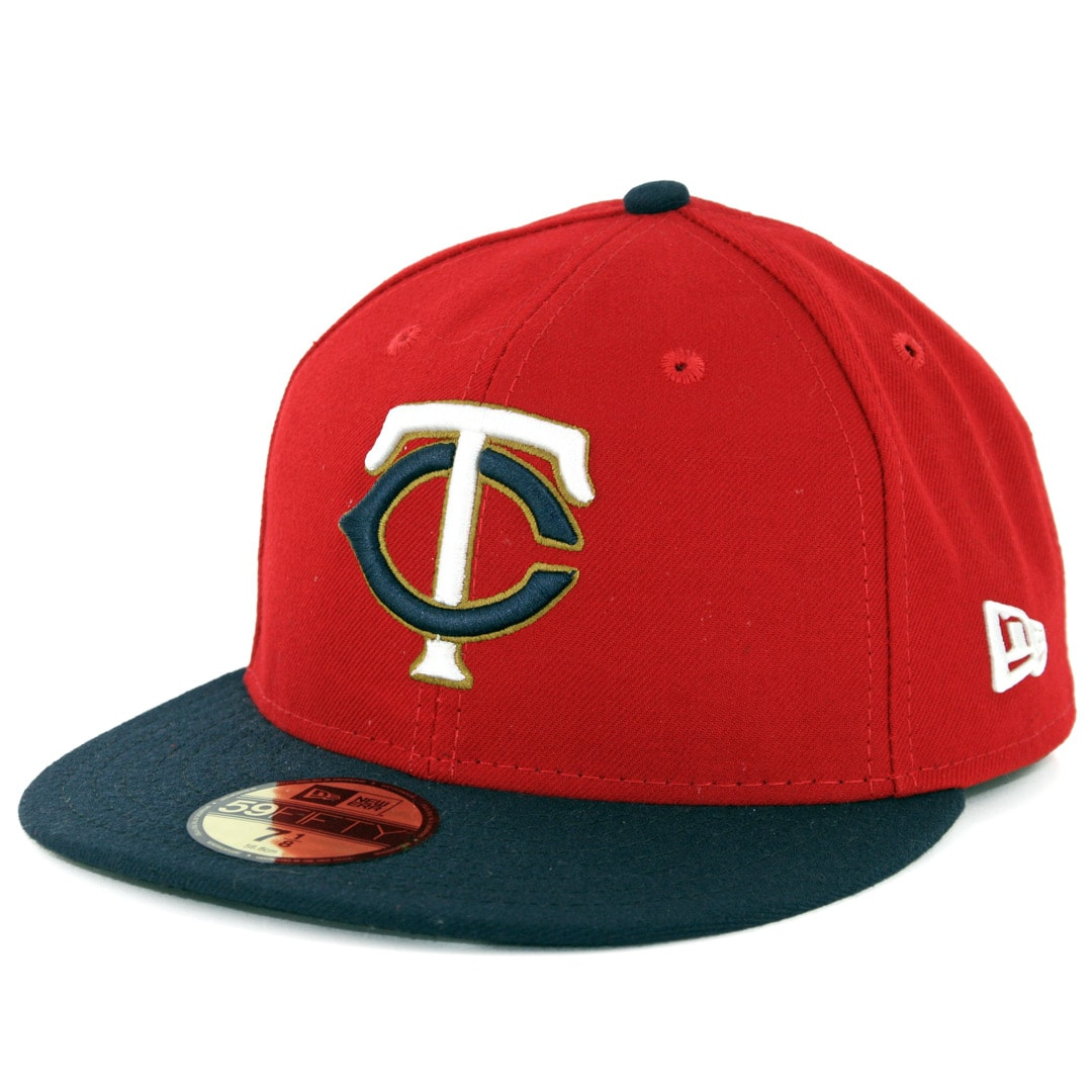 huge selection of e2853 95457 New Era 59Fifty Minnesota Twins Alternate 2 Authentic On Field Fitted Hat  Red Navy
