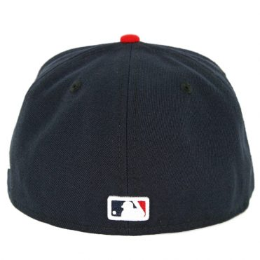 New Era 59Fifty Minnesota Twins 2018 Road Authentic On Field Fitted Hat Navy Red