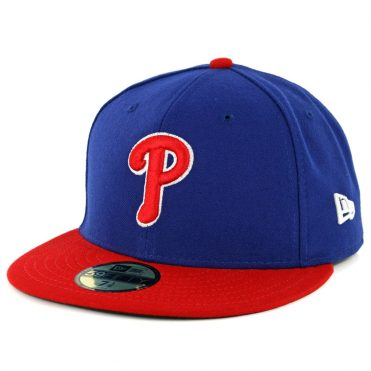 New Era 59Fifty Philadelphia Phillies 2018 Alternate 1 Authentic On Field Fitted Hat Royal Red
