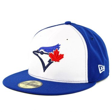 New Era 59Fifty Toronto Blue Jays Alternate 3 Authentic On Field Fitted Hat White Royal Blue
