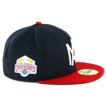 a26ac4dbd45 ... New Era 59Fifty Mexicali Aguilas Campeon Fitted Hat Dark Navy Scarlet