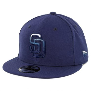 New Era 9Fifty San Diego Padres Faded Front Snapback Hat Navy