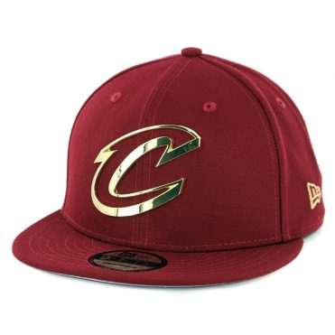 New Era 9Fifty Cleveland Cavaliers Metal Framed Snapback Hat Burgundy ... dc6d5d81ec5