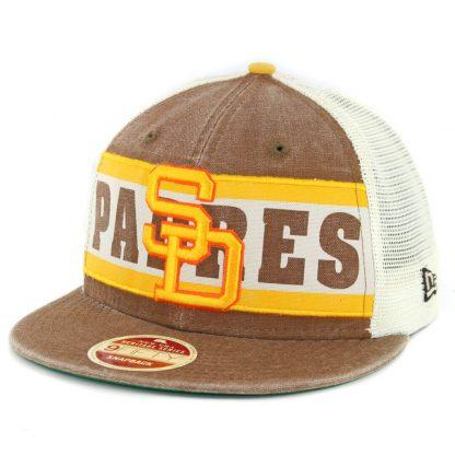 New Era 9Fifty San Diego Padres Vintage '80-'84 Snapback Hat Brown