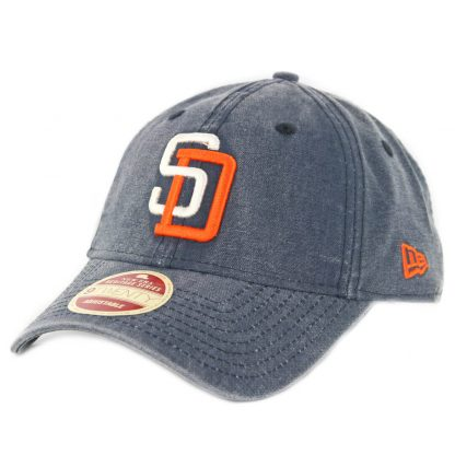 New Era 9Twenty San Diego Padres Classic Wash '91 Strapback Hat Denim