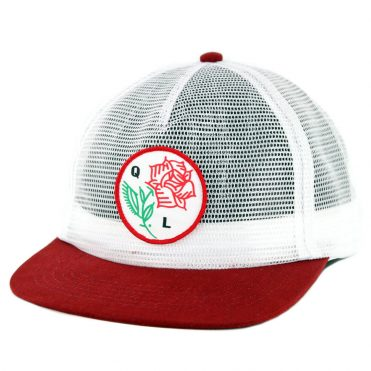 The Quiet Life Rose All Mesh Trucker Snapback Hat White Mesh Maroon