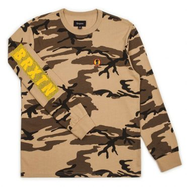 Brixton Fang Long Sleeve Knit T-Shirt Camouflage