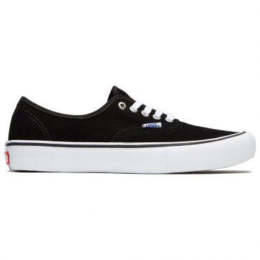 Vans Authentic Pro Suede Shoe Black White