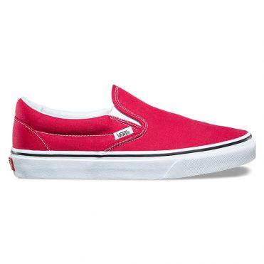 Vans Classic Slip-On Shoe Crimson True White