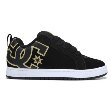 8d40fdbdba3dad DC Shoes Court Graffik SE Shoe Black Gold ...