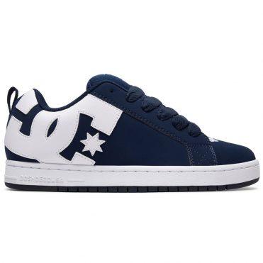 f442d9a286 DC Shoes Court Graffik Shoe Navy White ...