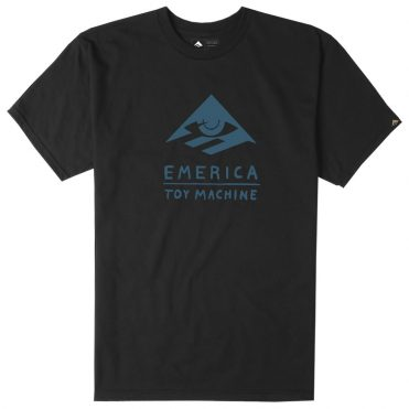 Emerica x Toy Machine Short Sleeve T-Shirt Black