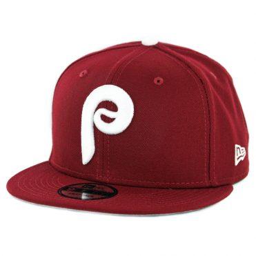 814c04a0085 New Era 9Fifty Philadelphia Phillies Basic Cooperstown Snapback Hat  Cardinal ...