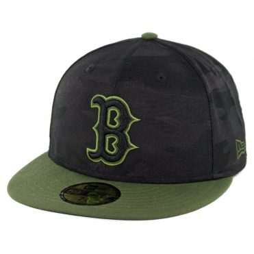 1357be16c89 New Era 59Fifty Boston Red Sox 2018 Memorial Day Fitted Hat Black Army  Green ...