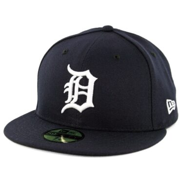 New Era 59Fifty Detroit Tigers Home Authentic On Field Fitted Hat Dark Navy
