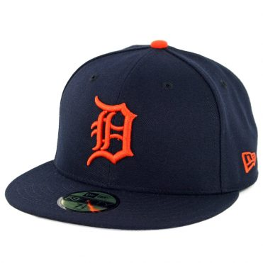 cac2778bc82 New Era 59Fifty Detroit Tigers Road Authentic On Field Fitted Hat Dark Navy  ...