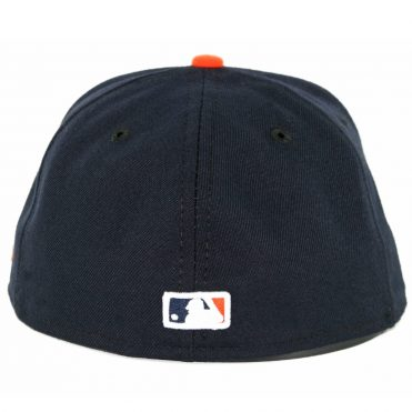 New Era 59Fifty Detroit Tigers Road Authentic On Field Fitted Hat Dark Navy