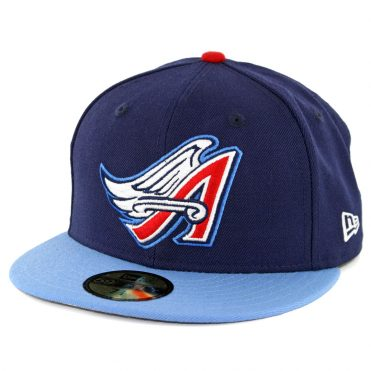 finest selection 29a28 dc7a4 New Era 59Fifty Los Angeles Angels of Anaheim Cooperstown 1997 Fitted Hat  Dark Navy ...