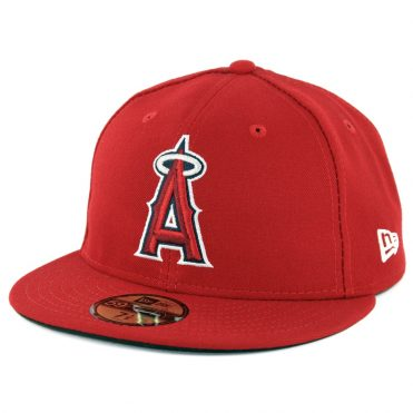 New Era 59Fifty Los Angeles Angels of Anahiem Game Authentic On Field Fitted Hat Red