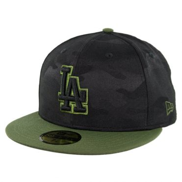the best attitude 5367f 01d98 ... sweden new era 59fifty los angeles dodgers 2018 memorial day fitted hat  black army green f14a2