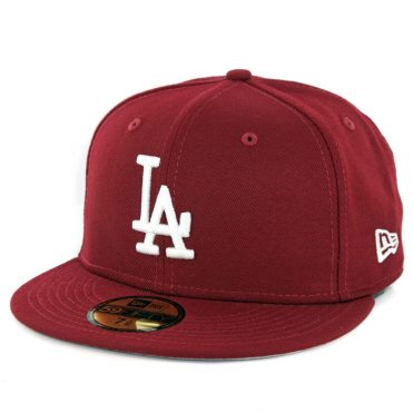 New Era 59Fifty Los Angeles Dodgers Fitted Hat Cardinal ... 3b1e90de02d4