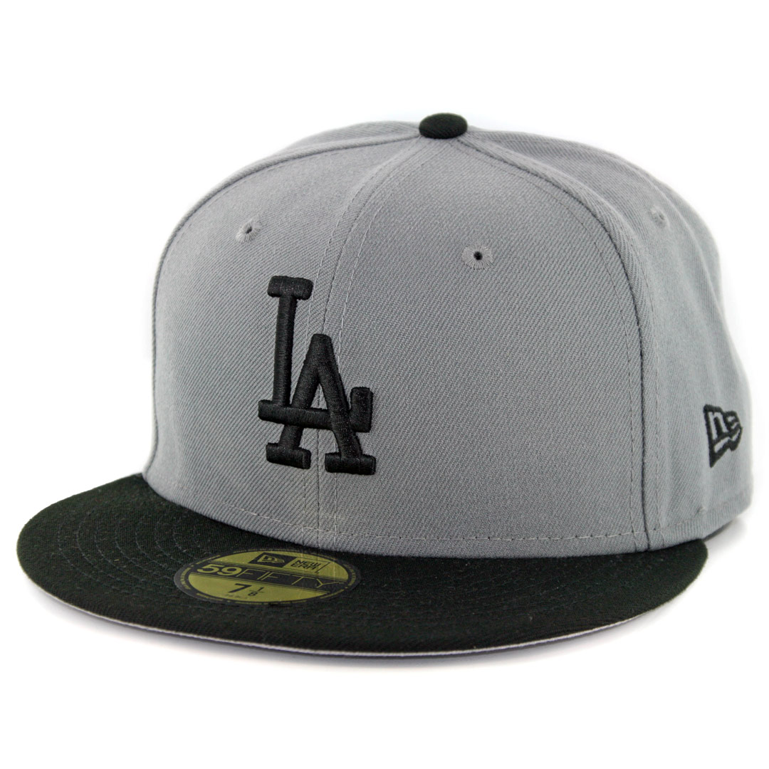 f1a0a963 New Era 59Fifty Los Angeles Dodgers Fitted Hat Storm Grey Black
