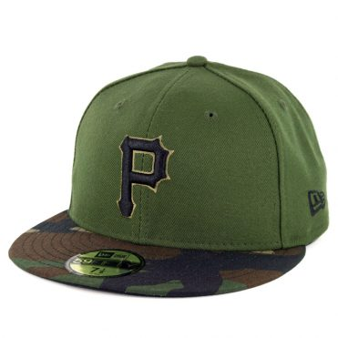 New Era 59Fifty Pittsburgh Pirates 2018 Alternate 3 Authentic On Field Fitted Hat Green
