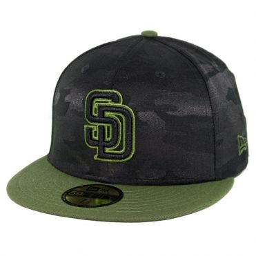 New Era 59Fifty San Diego Padres 2018 Memorial Day Fitted Hat Black Army  Green ... d3d6a7fd4f53