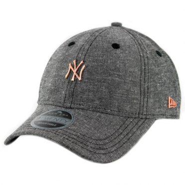 8b046955 New Era 9Twenty New York Yankees Team Badged Strapback Hat Heather Graphite  ...